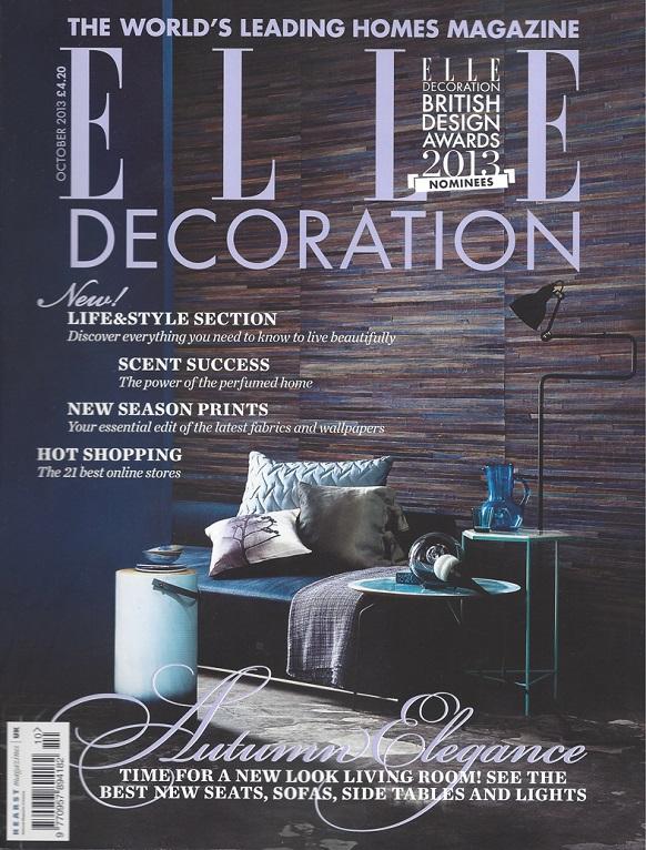 Elle Decor cover October 2013 Best home magazines out there Best home magazines out there Elle COver