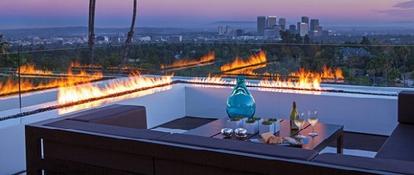 A magical and luxurious home in Beverly Hills A magical and luxurious home in Beverly Hills Inline Fire Pits 600x400