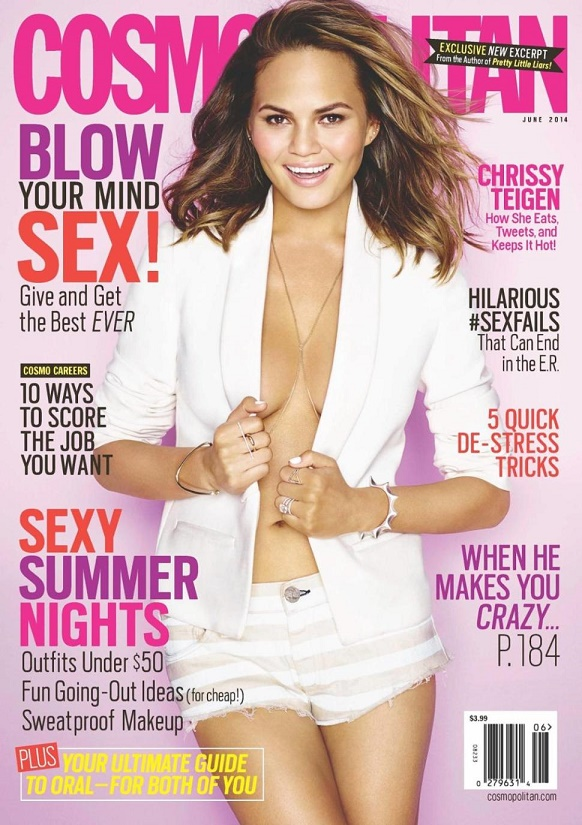 """The best fashion magazines covers"""" The best and hottest fashion magazine covers of June 2014 The best and hottest fashion magazine covers of June 2014 teigen29f 3 web"""