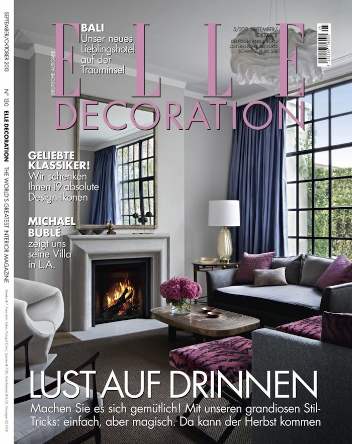 Elle decor interior design magazine for Most popular interior design magazines