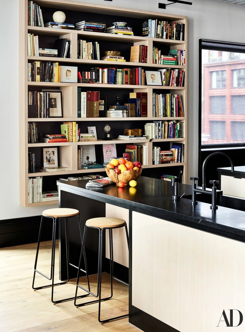 Peek Liev Schreibert Peek Liev Schreibert Triplex Apartment in Manhattan's NoHo District 579 AD Schreiber KITCHEN02 11 02 02