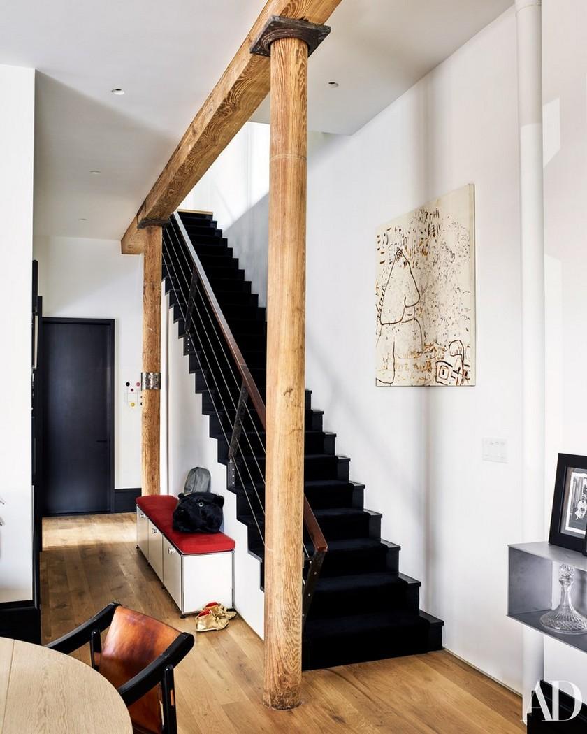 Peek Liev Schreibert Peek Liev Schreibert Triplex Apartment in Manhattan's NoHo District 579 AD Schreiber STAIRCASE 015 02 02