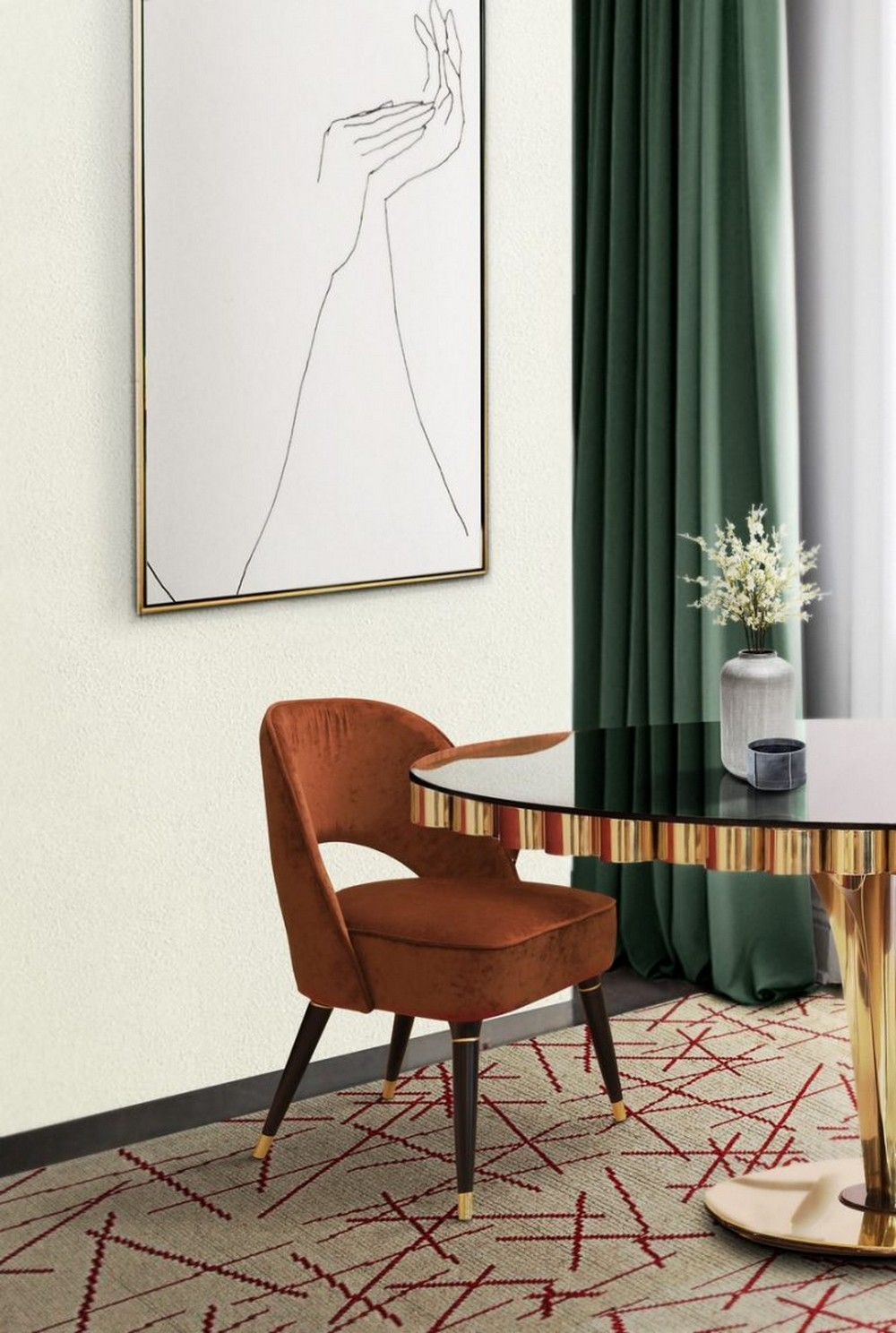 Give Your Dining Room Decor A Geometric New Retro Look For This Summer dining room decor Give Your Dining Room Decor A Geometric New Retro Look For This Summer Give Your Dining Room Decor A Geometric New Retro Look For This Summer