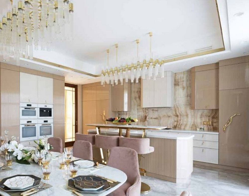 This Coral Kitchen Design Features PullCast's Golden Hardware  coral kitchen design This Coral Kitchen Design Features PullCast's Golden Hardware  This Coral Kitchen Design Features PullCasts Golden Hardware