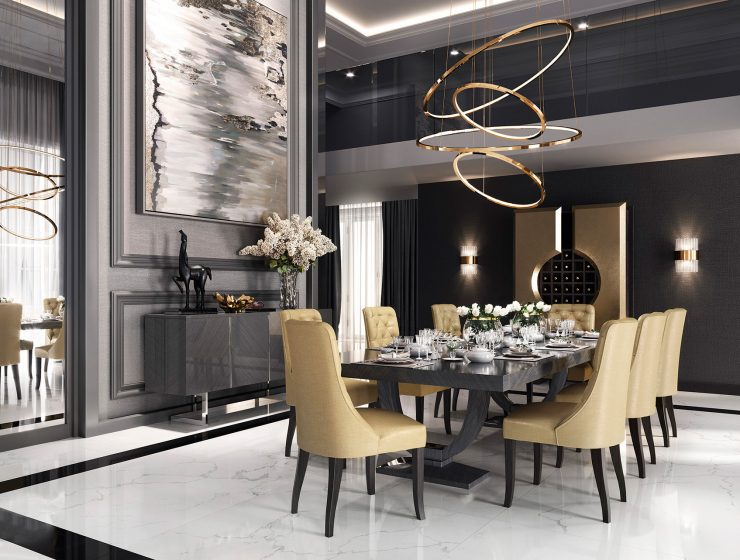 colección alexandra Meet Colección Alexandra, A New Vision Of Luxury Design 10 Coleccion Alexandra evolution dining room 740x560