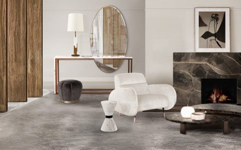 marble tables Marble Tables: Add A Neutral Complement To Your Living Room CL robusta center marco armchair liberica console lareira acesa 480x300