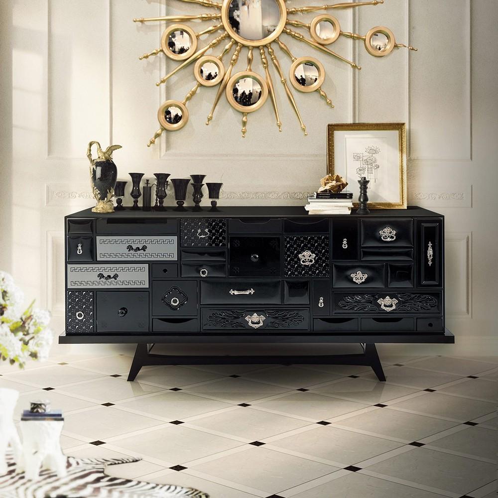 luxury credenzas Luxury Credenzas: Why Black Interiors Are Always On Trend luxury credenzas why black interiors are always trend 1