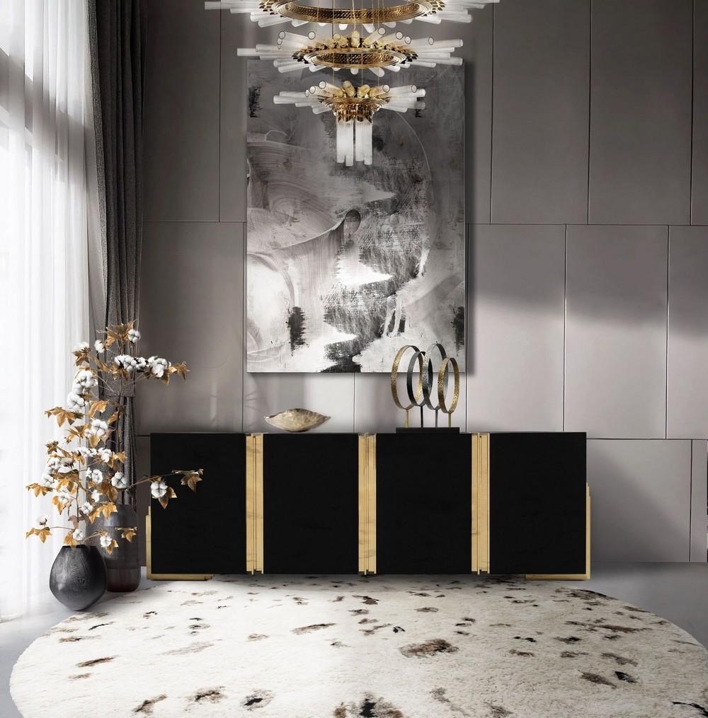 luxury credenzas Luxury Credenzas: Why Black Interiors Are Always On Trend luxury credenzas why black interiors are always trend 13