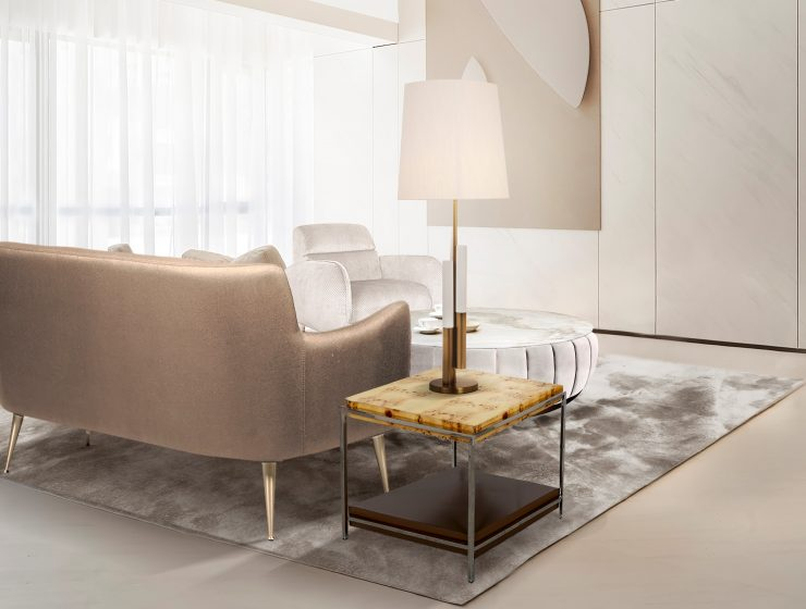 side tables 25 Modern Side Tables You Can Buy Online CL Aroma sidetable Dandridge sofa Winnow table lamp 740x560