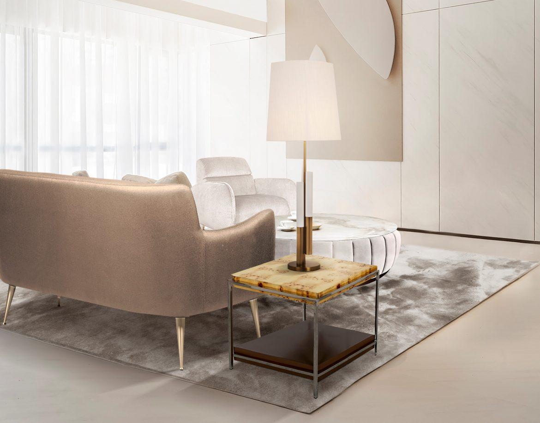 25 Modern Side Tables You Can Buy Online side tables 25 Modern Side Tables You Can Buy Online CL Aroma sidetable Dandridge sofa Winnow table lamp