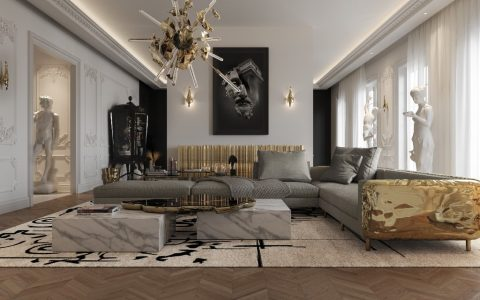 luxury penthouse Take A Look At This Parisian Luxury Penthouse Inside An Opulent Multimillion Dollar Penthouse In Paris By Boca do Lobo ft 480x300