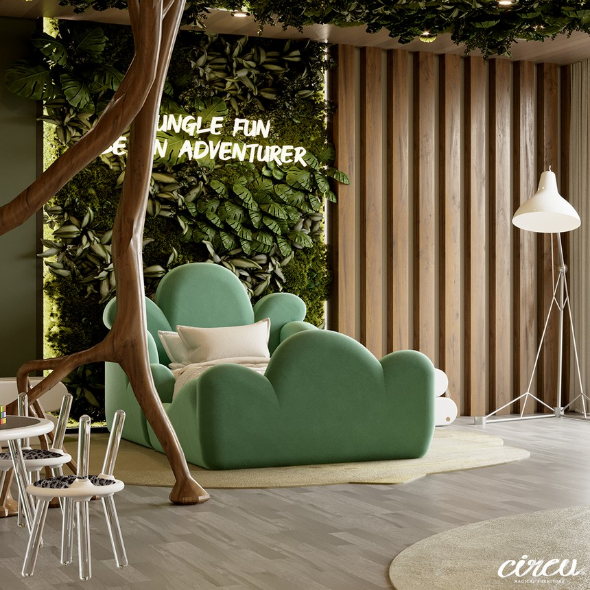 kids room Kids Room Ideas: A Luxury Project Inspired By Nature Kids Bedroom Projects A Jungle Inspired bedroom Youll Love 11