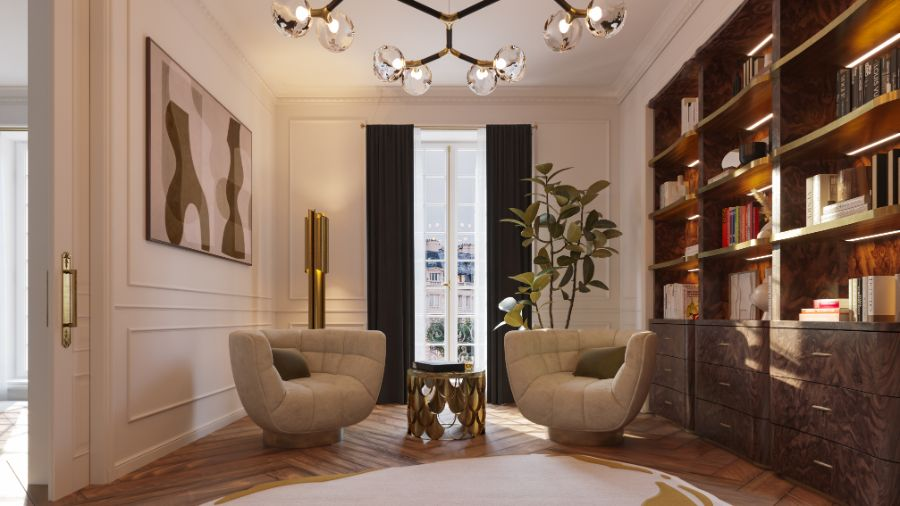 parisian apartment Step Inside This Parisian Apartment The Eternel Parisian Apartment Mixing Classic and Contemporary Design 7