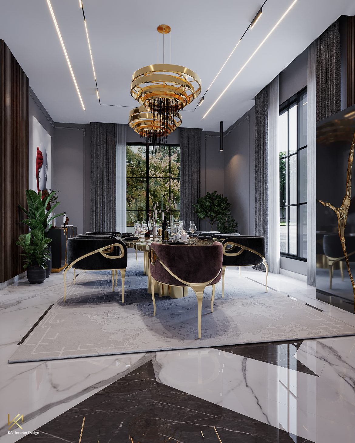 Covet House x K.A Interior Design: A Opulent Modern Classic Villa in Riyadh  Covet House x K.A Interior Design:  A Opulent Modern Classic Villa In Riyadh covet house k a interior design lavish modern classic villa riyadh 2