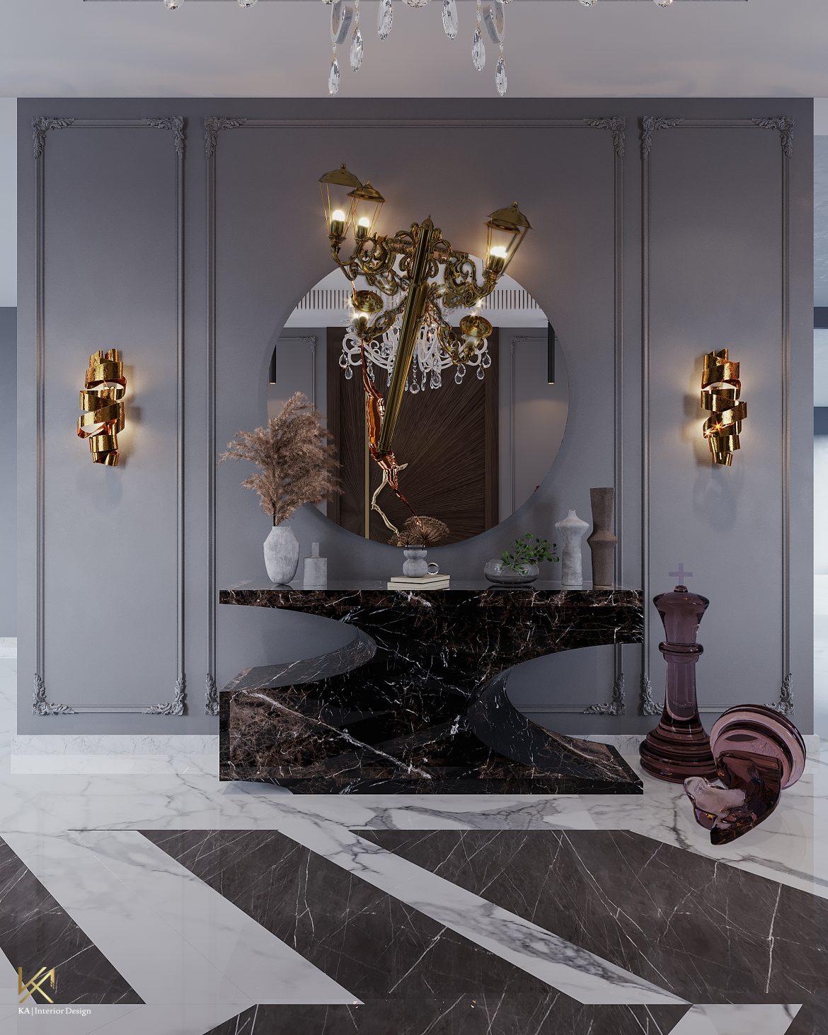Covet House x K.A Interior Design: A Opulent Modern Classic Villa in Riyadh  Covet House x K.A Interior Design:  A Opulent Modern Classic Villa In Riyadh covet house k a interior design lavish modern classic villa riyadh 3