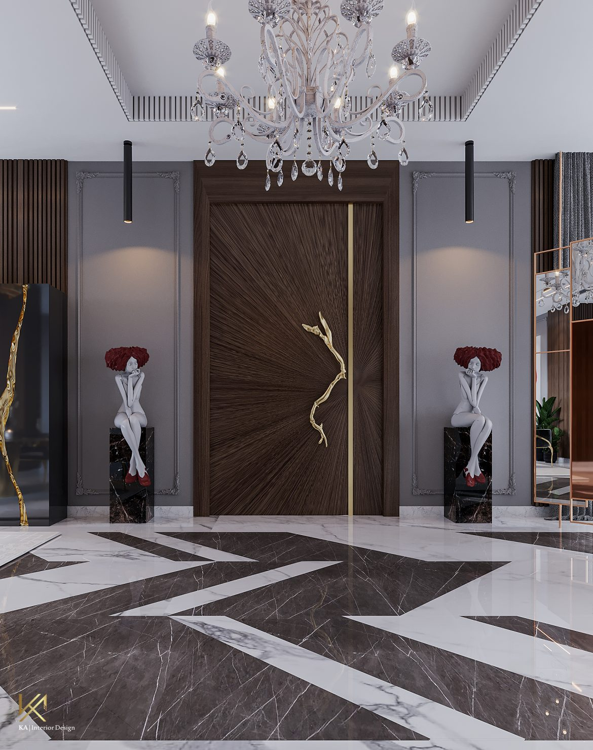 Covet House x K.A Interior Design: A Opulent Modern Classic Villa in Riyadh  Covet House x K.A Interior Design:  A Opulent Modern Classic Villa In Riyadh covet house k a interior design lavish modern classic villa riyadh 4