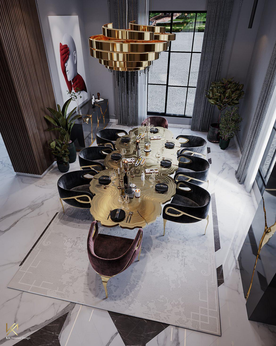 Covet House x K.A Interior Design: A Opulent Modern Classic Villa in Riyadh  Covet House x K.A Interior Design:  A Opulent Modern Classic Villa In Riyadh covet house k a interior design lavish modern classic villa riyadh 5