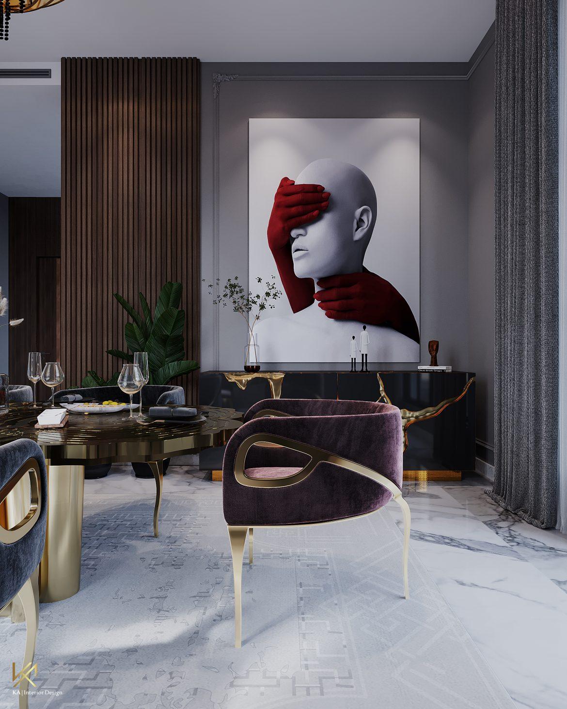 Covet House x K.A Interior Design: A Opulent Modern Classic Villa in Riyadh  Covet House x K.A Interior Design:  A Opulent Modern Classic Villa In Riyadh covet house k a interior design lavish modern classic villa riyadh 6