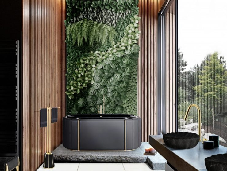 modern classic bathroom Modern Classic Bathroom Design Ideas 9 MV 2 nature inspired bathroom 740x560