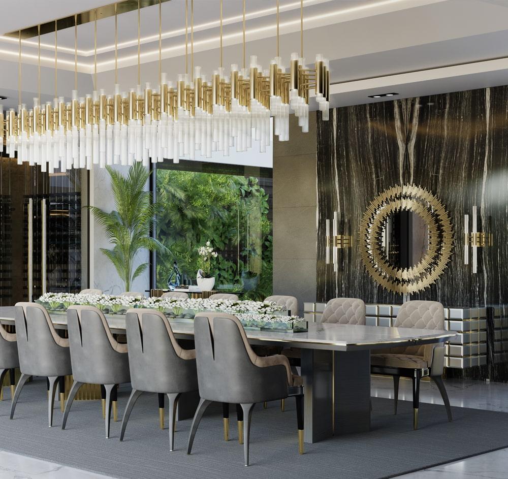 multi-million dollar house Take a Big Look at This Multi-Million Dollar House in Miami dining room 1