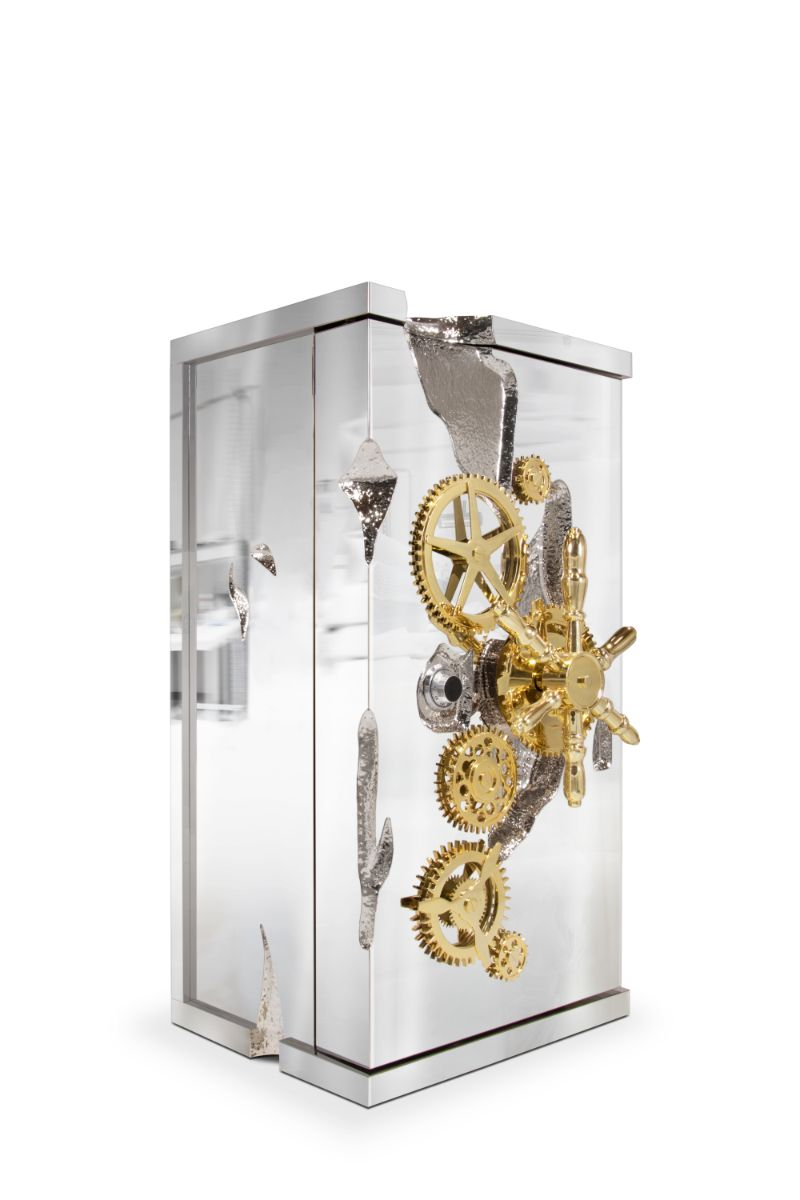 penthouse in texas Penthouse In Texas: Art Deco Meets Contemporary millionaire silver luxury safe 01