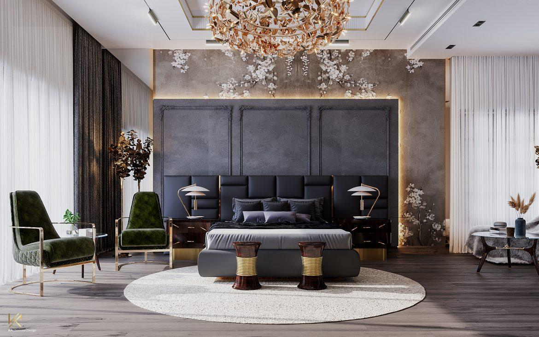 Covet House x K.A Interior Design:  A Opulent Modern Classic Villa In Riyadh Guest Bedroom 1